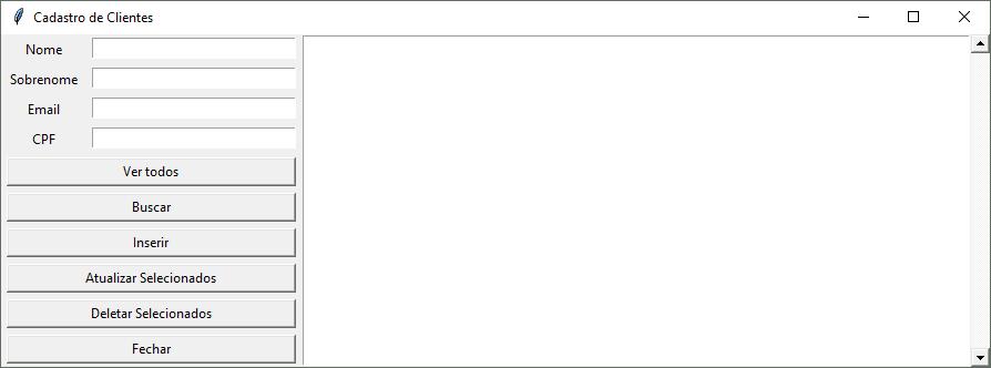 Cadastro de Clientes em Python