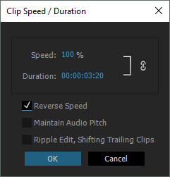 Adobe Premiere Pro: Reverse Speed